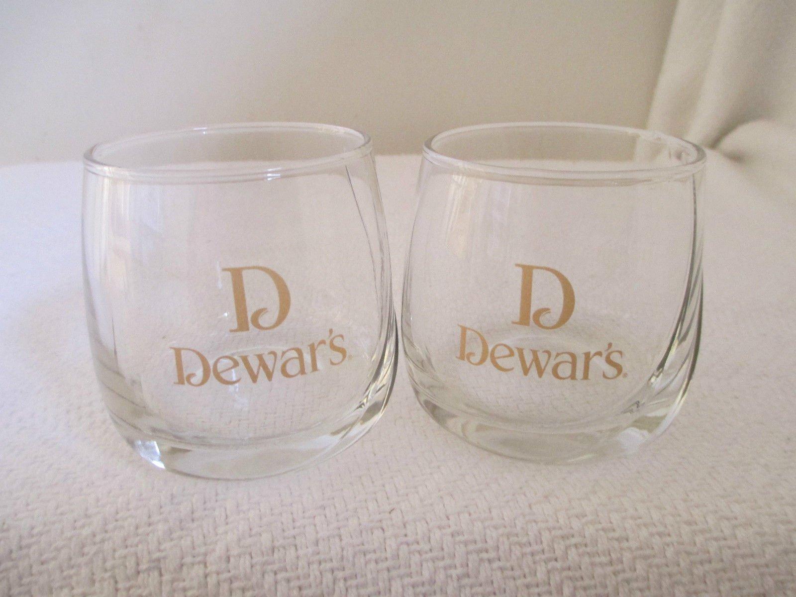 Dewar's Scotch Whiskey Snifter Glass   Set of 2 Glasses