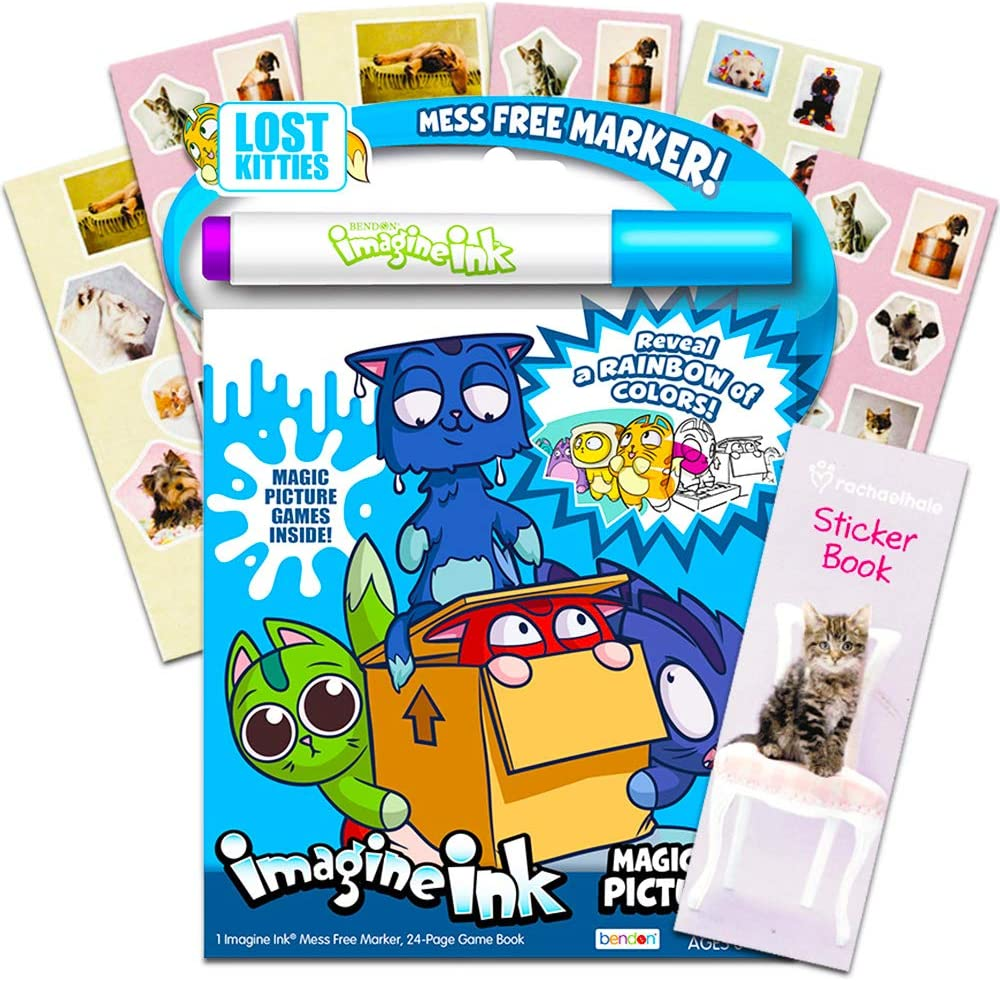 - Amazon.com: Lost Kitties Imagine Ink Coloring Book Set For