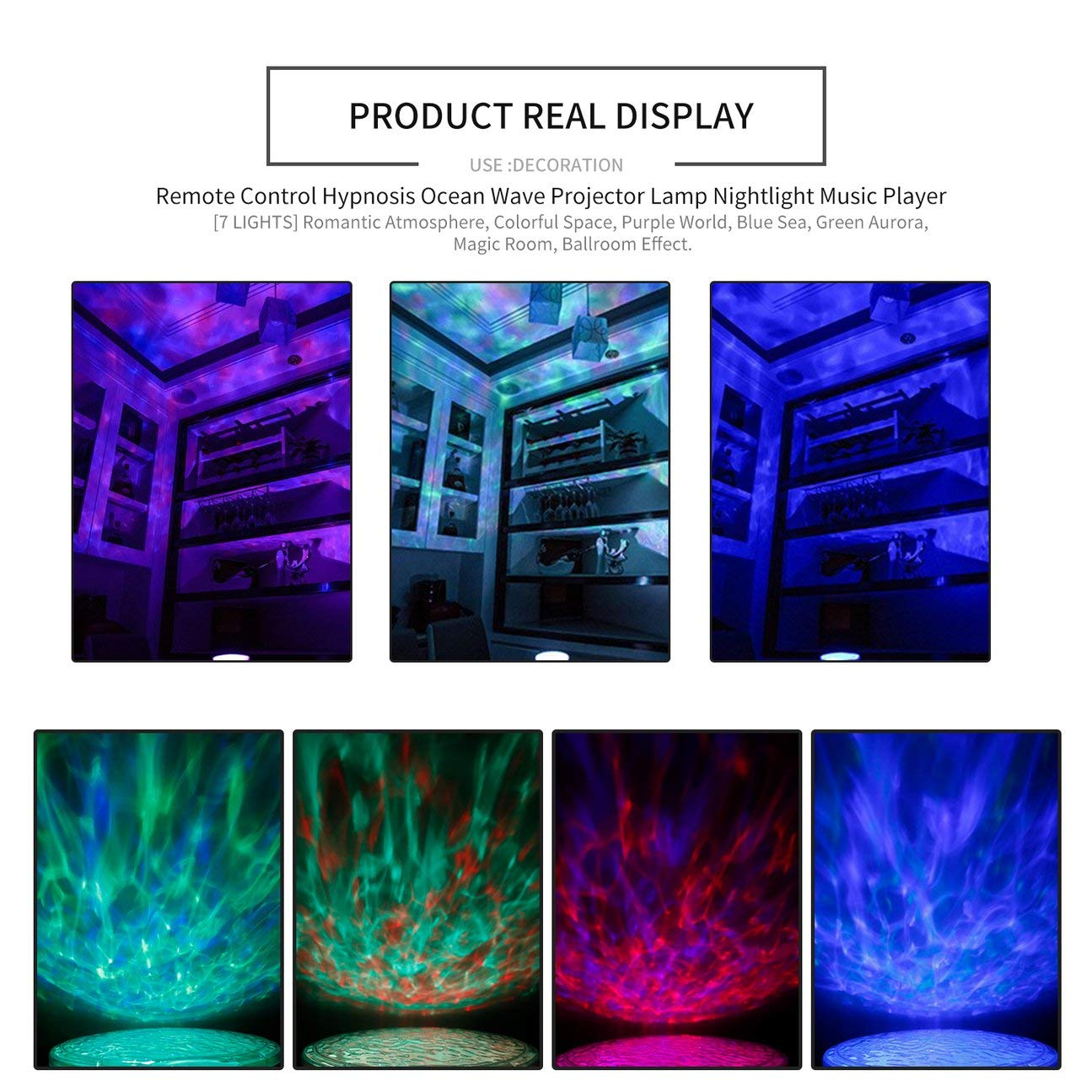 Control remoto Hipnosis Ocean Wave Lámpara de proyector Luz ...