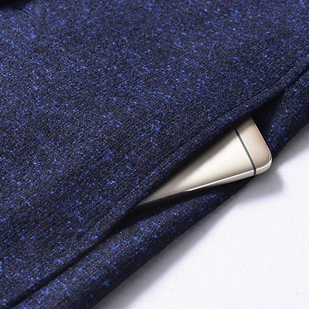 KaariFirefly Blazer Uomo Tinta Unita Manica Lunga Colletto Alla Coreana Monopetto Plus Size Slim Suit Jacket Top