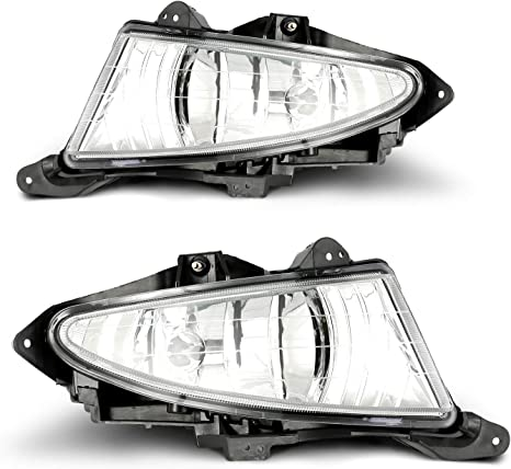 Pair of Clear Driving Fog Lamp Lights Wiring Set For Hyundai Elantra 2007-2010