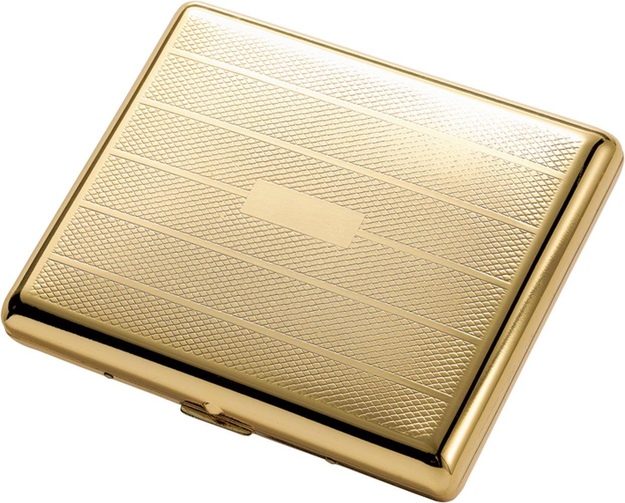 Visol Products Pierre Polished Cigarette Case, Gold