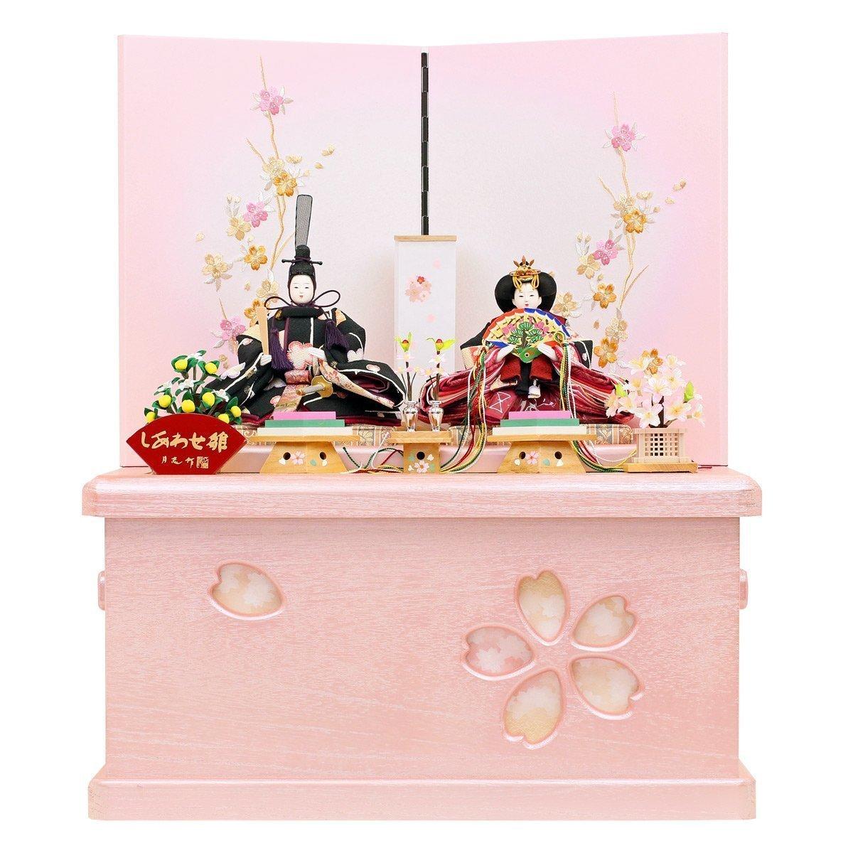 人形工房天祥 雛人形 収納飾り 親王飾り 衣装着 束帯十二単雛人形 横幅49×奥行35×高さ58(cm) 13tuki-sakurako48   B00S2DWC94