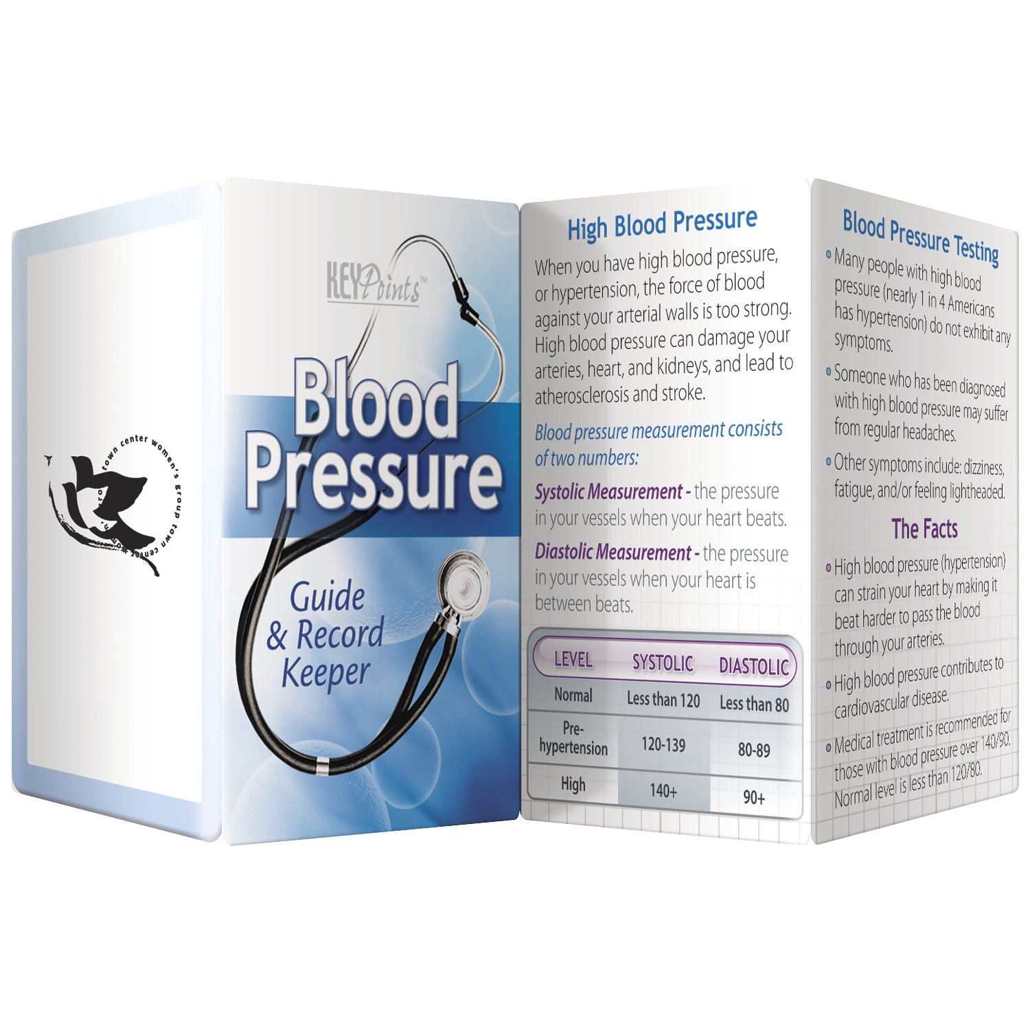 BIC Graphic Key Point: Blood Pressure - Guide & Record Keeper White 500 Pack