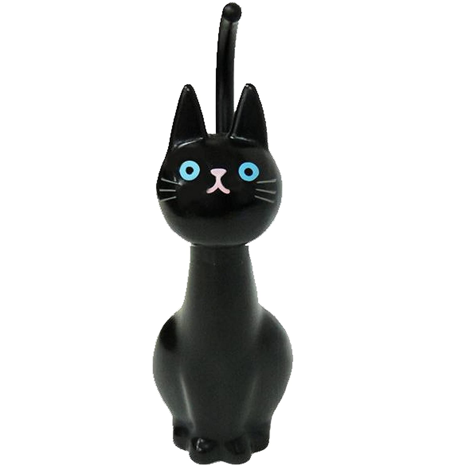 Black toilet brush toilet cat (Japan import / The package and the manual are written in Japanese) Meiho -