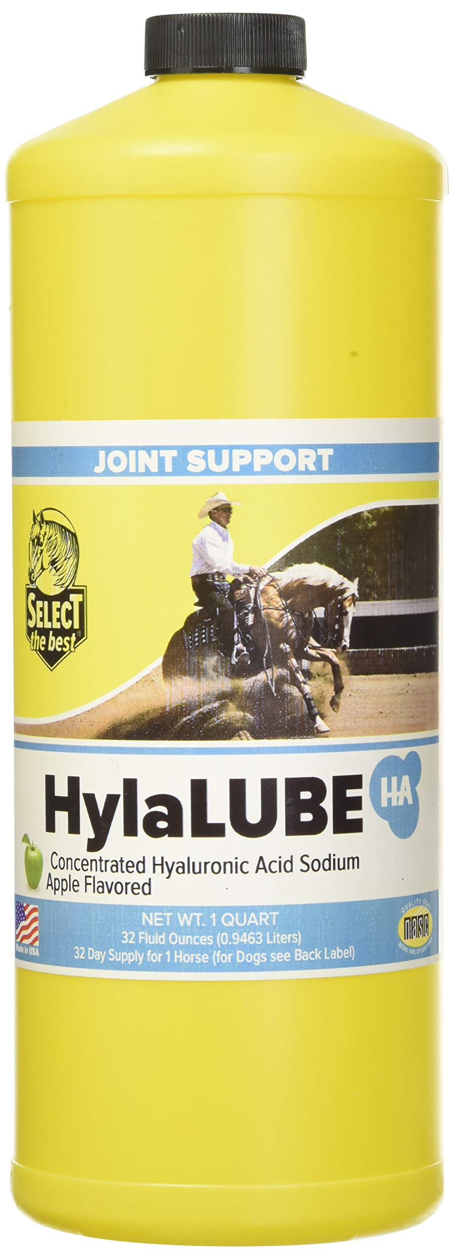 RICHDEL HylaLube, 1 Quart, Concentrated Hyaluronic Acid Sodium Animal Joint Support Supplement