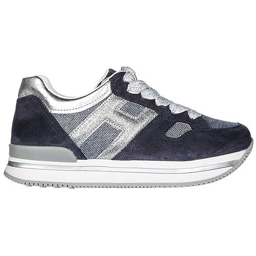 Hogan Zapatos Zapatillas de Deporte Niña j222 BLU: Amazon.es: Zapatos y complementos