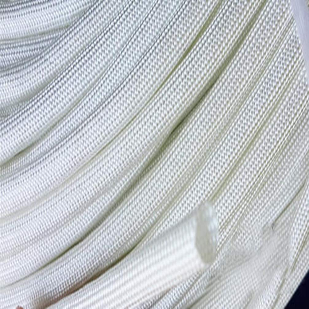 10M Cable Sleeve High Temperature Glass Fiber Insulation Material Cable Sleeve 600 Degree HTG Fiberglass Sleeving