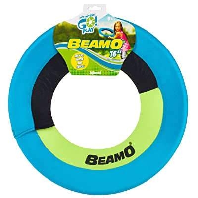 Toysmith Get Outside GO! Mini Beamo Flying Hoop (16-Inch), Colors may vary: Toys & Games