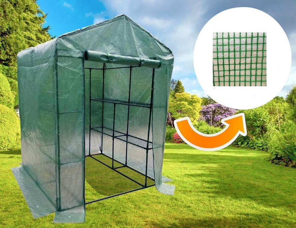 MTB Outdoor Portable Walk-in Garden Greenhouse Replacement PE Cover for 8 Shleves for Frame Size 56x56x77inch by MTB SUPPLY
