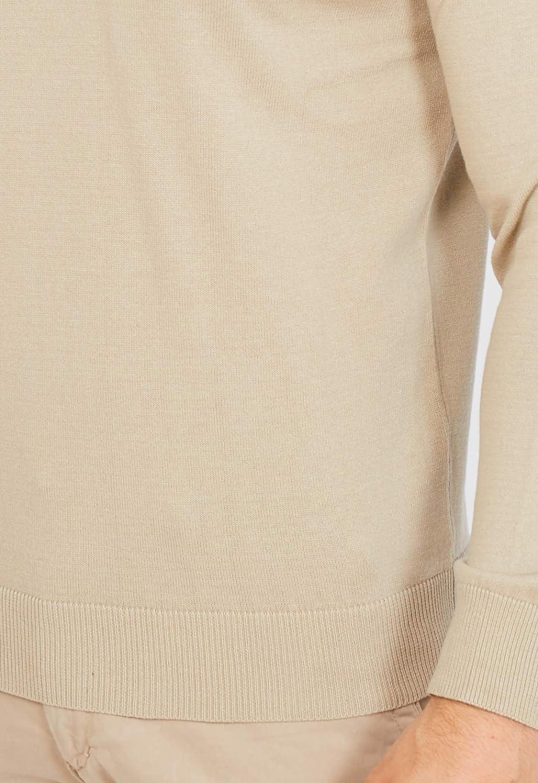Maglione con Scollo a V a Maniche Lunghe in Lana Merino Italiana 100/% Stile Casual Elegante per Uomo Jack Stuart