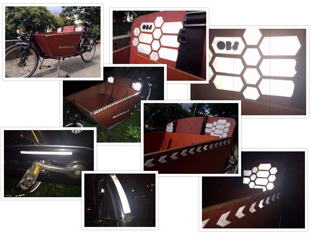 Adhesivos reflectantes para bicicletas, sillas de paseo, casco, etiquetas luminosas, más de 78 elementos