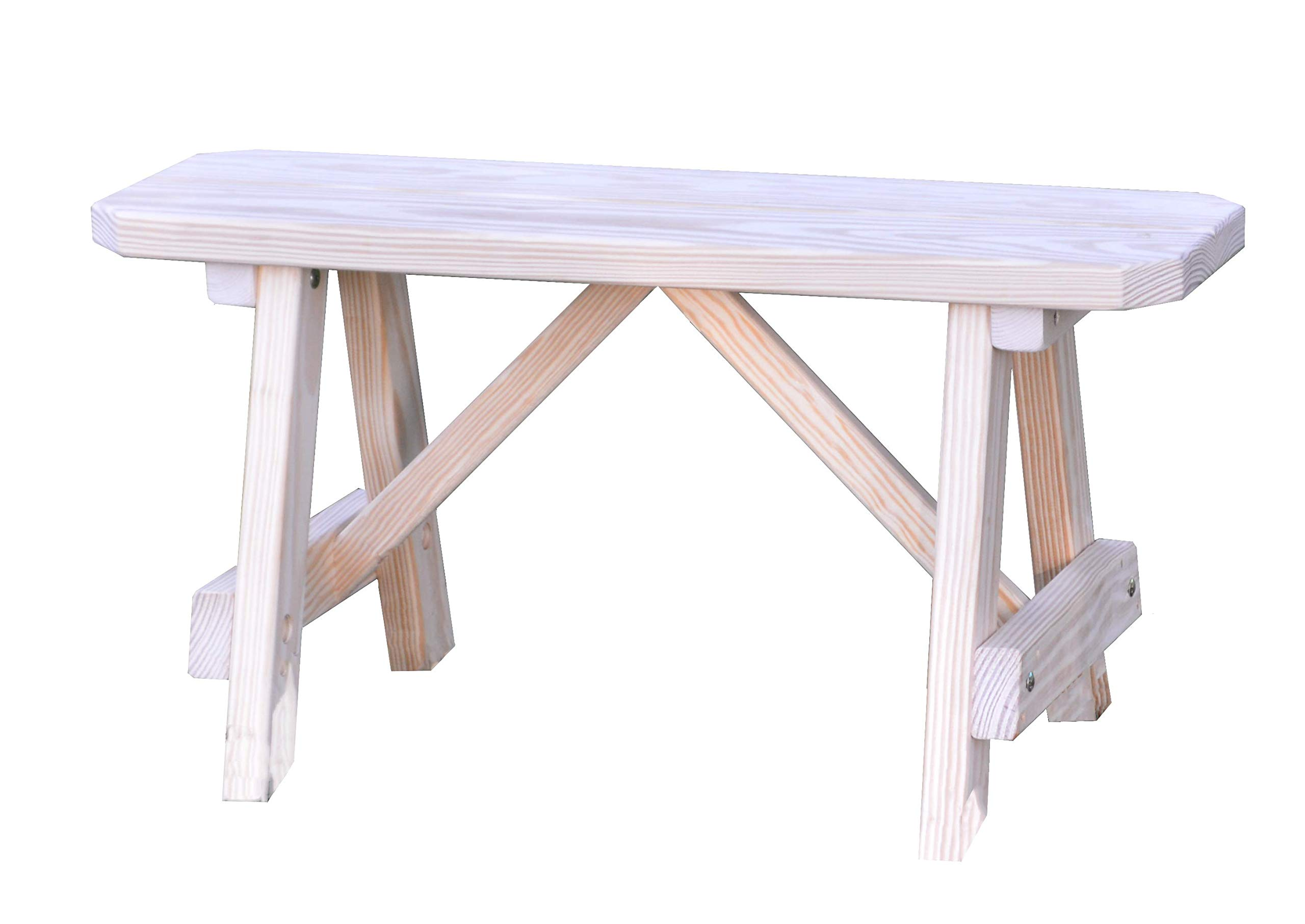 A & L Furniture Yellow Pine Traditional Bench, 2', Unfinished by A&L Furniture Co.