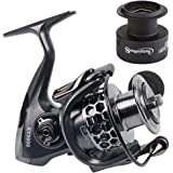 Sougayilang Fishing Reel 13+1BB Light Weight Ultra Smooth Aluminum Spinning Fishing Reel with Free Spare Graphite Spool