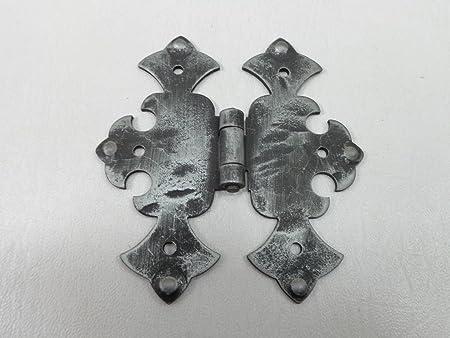 2x Classique Cabinet Armoire Butt Charnières antique bronze Boîte à bijoux charnière de porte
