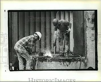 1988 prensa fotos soldadores reparación Nola Centurion astilleros Barge en Louisiana: Amazon.es: Hogar