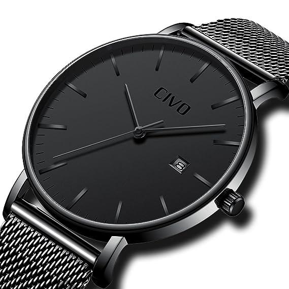 Reloj de pulsera Civo para hombre, analógico, de cuarzo y ...