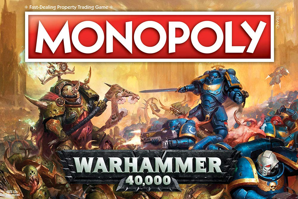 USAOPOLY Monopoly Warhammer 40,000 Board Game | Based on Warhammer 40,000 from Games Workshop | Officially Licensed Warhammer 40,000 Merchandise | Themed Classic Monopoly Game