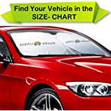 """Car Sun Shade, Front Car Windshield Sunshade Keeps Vehicle Cool-UV Ray Protector Sunshade, Easy to Use, Flexible Size for SUV, Truck, Fit Car Sun Screen Large or Small, Silver(35""""X63.3"""", 160 X 90 cm)"""