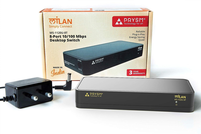 PRYSM Technology for all Milan Soho 8-Port 10/100Mbps