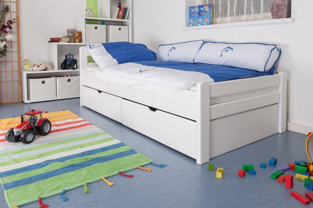 Kinderbett weiß mit schubladen  Kinderbett / Jugendbett