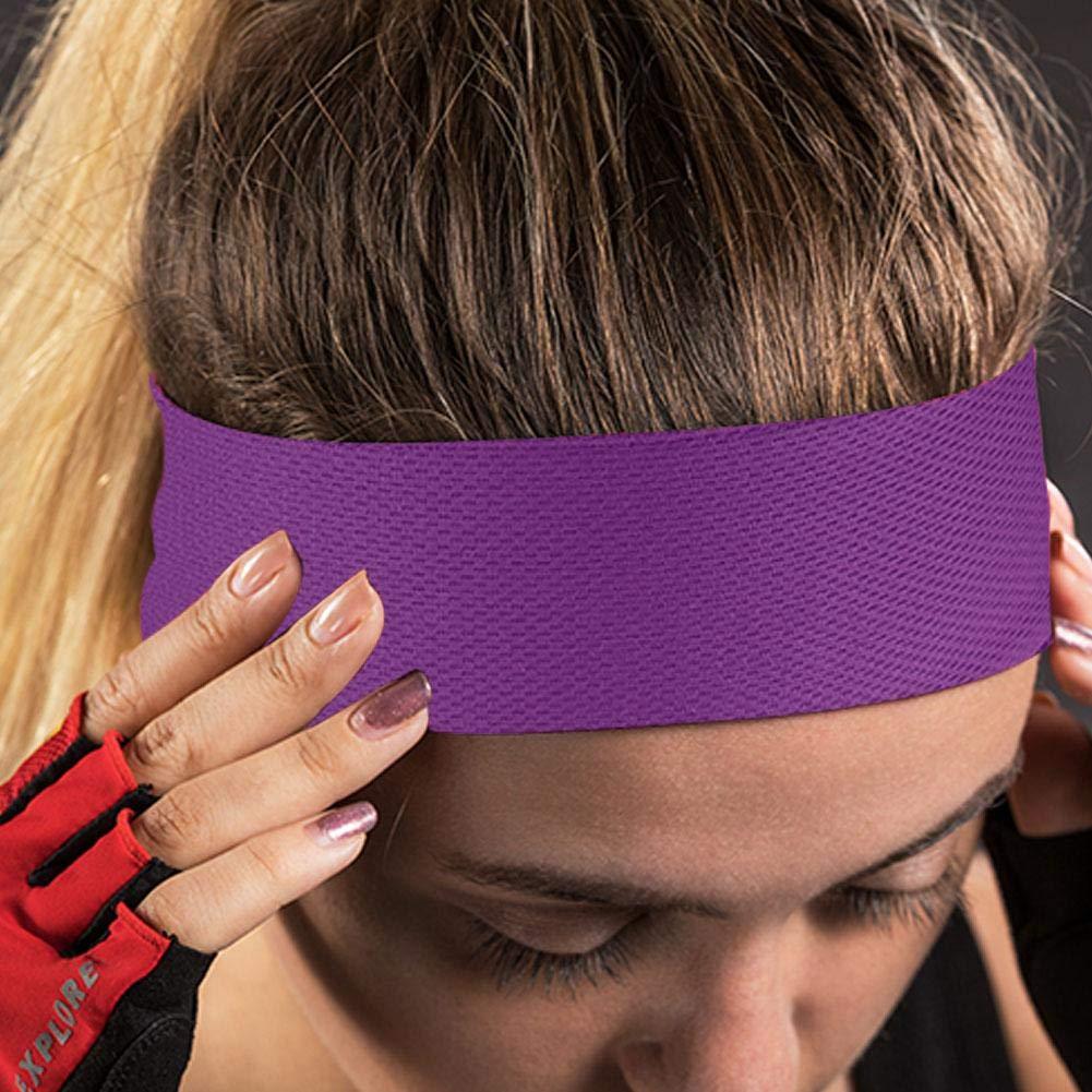 Banda Sudor Cabeza,Cinta de Pelo de Secado R/ápido Anti-Sudor Pa/ñuelo Cabeza Headband El/ástico Ajustable Sweatband para Ciclismo Correr Gimnasio Fitness Tenis Yoga Running Athletics