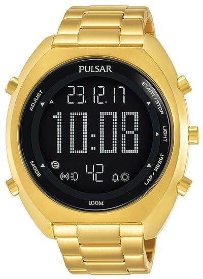 Pulsar x Reloj para Hombre Digital de Cuarzo con Brazalete de Acero Inoxidable P5A016X1: Amazon.es: Relojes