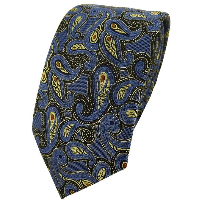 Krawatte Designen | Tigertie Modische Designer Krawatte In Blau Gold Rot Schwarz Paisley