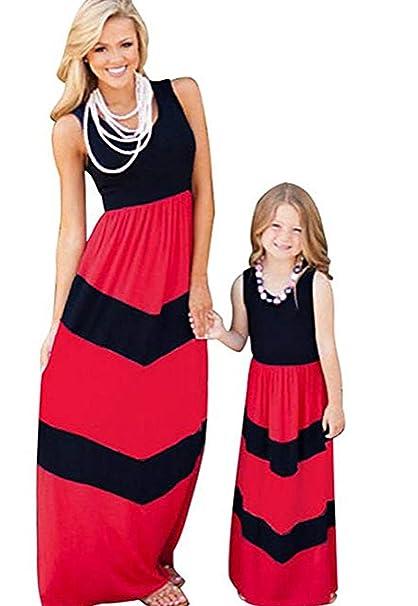 EVRYLON Vestido de Madre e Hija Igual