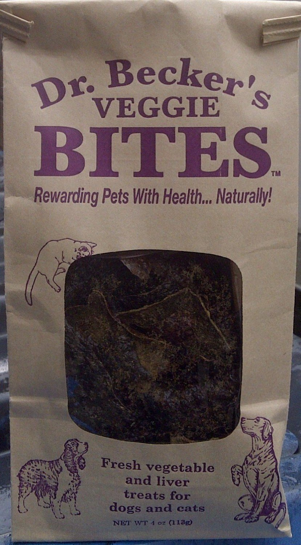Dr Becker's Veggie Bites Dog & Cat Treats, 4 oz (113g)