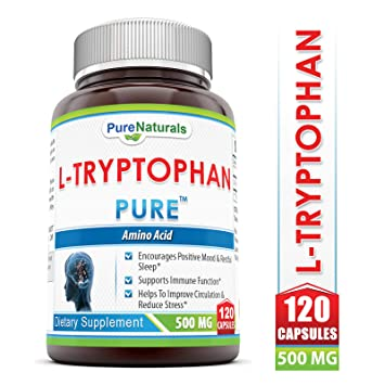 Pure Naturals L-Tryptophan Dietary Supplement, 500 Mg, 120 Capsules