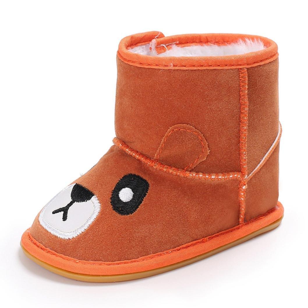Baby Girls Cartoon Soft Sole Snow Boots Warm Crib Shoes Anti-slip Toddler Boots Dreamyth
