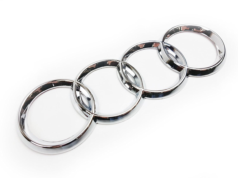 Stemma distintivo ad anelli cromati per portellone del portabagagli, 4E0853742 Just German Parts