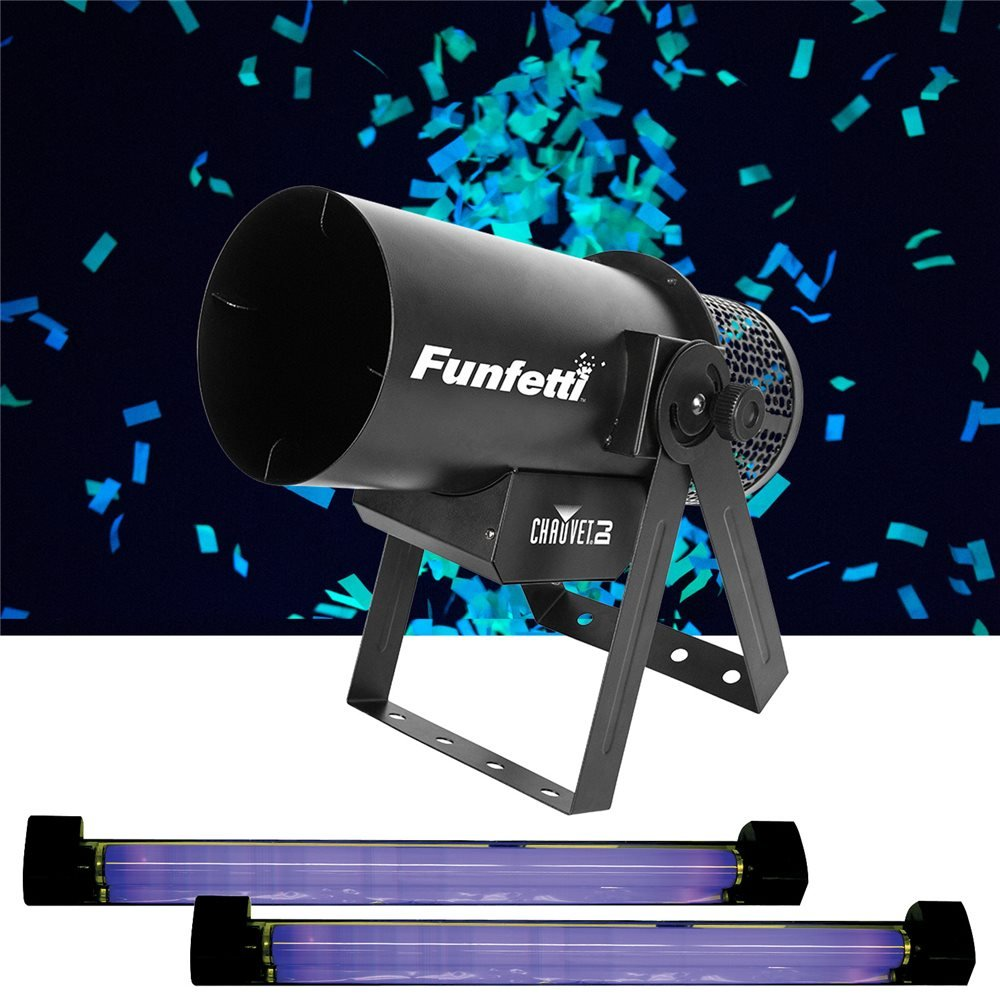Chauvet Funfetti Pack w/ Dual Black Lights & Glow in the Dark Confetti