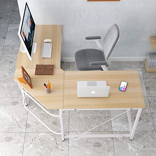 SogesGame 59 x 59 Inches Large L-Shaped Desk Corner Table Computer Desk Gaming Desk PC Laptop Home Office Desk