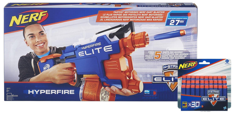 Nerf N-Strike Elite Hyperfire Ammo Booster Pack: Blaster + 30 Extra-Darts