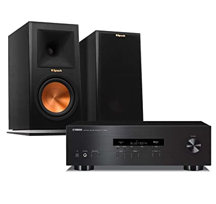 Yamaha R S202BL Stereo Receiver With Klipsch RP 160M Bookshelf Speakers Pair