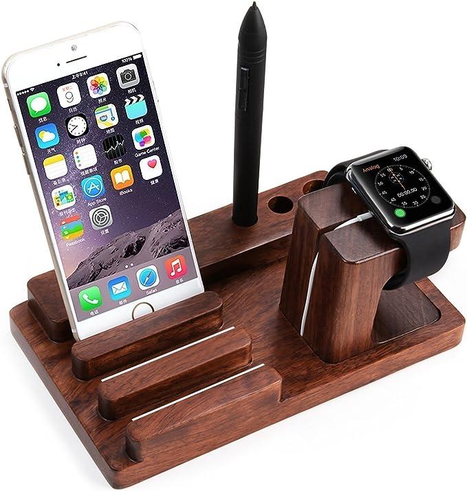 segmoi (TM) de palisandro Madera de Bambú USB de carga Dock ...
