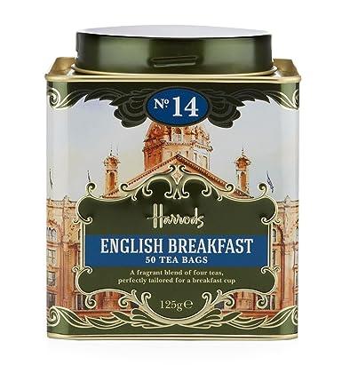 Harrods London Earl Grey 50 bolsas de té, 4.41 oz: Amazon ...