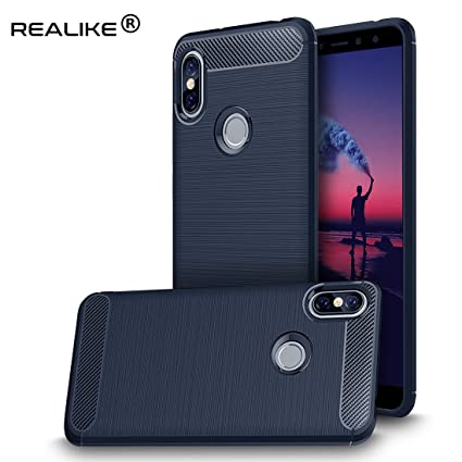 finest selection eefe0 da978 REALIKE Flexible Carbon Fiber Back Cover with Ultimate Protection for Redmi  Y2-2018