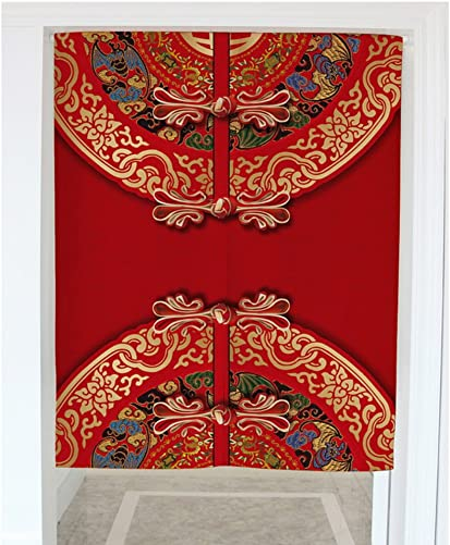 Crazy Cart Chinese Style Cotton Linen Japanese Noren Doorway Curtain Tapestry Home Decortaion 33.5 x47.2