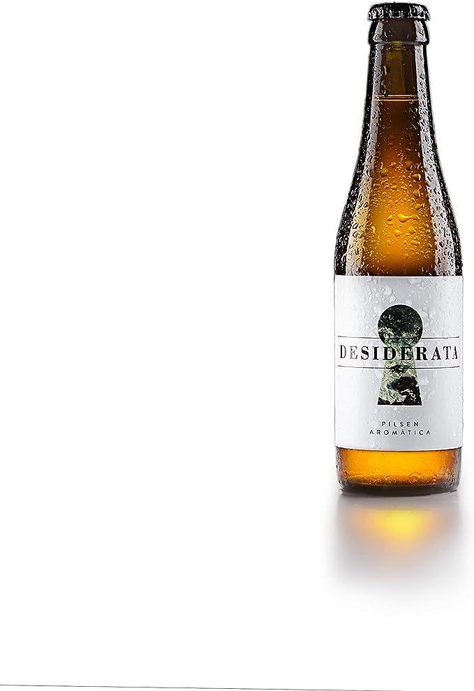 Desiderata - Pilsen Aromática - Cerveza artesana 100% natural sevillana, sin aditivos, conservantes ni colorantes. Refermentada en botella - Sabor afrutado y aromas florales - 1 uds