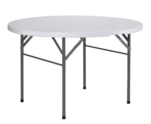 Sandusky Lee Frpt4 -WV2 Round Plastic Fold in Half Table in White, 29 Height, 48 Width, 48 Length