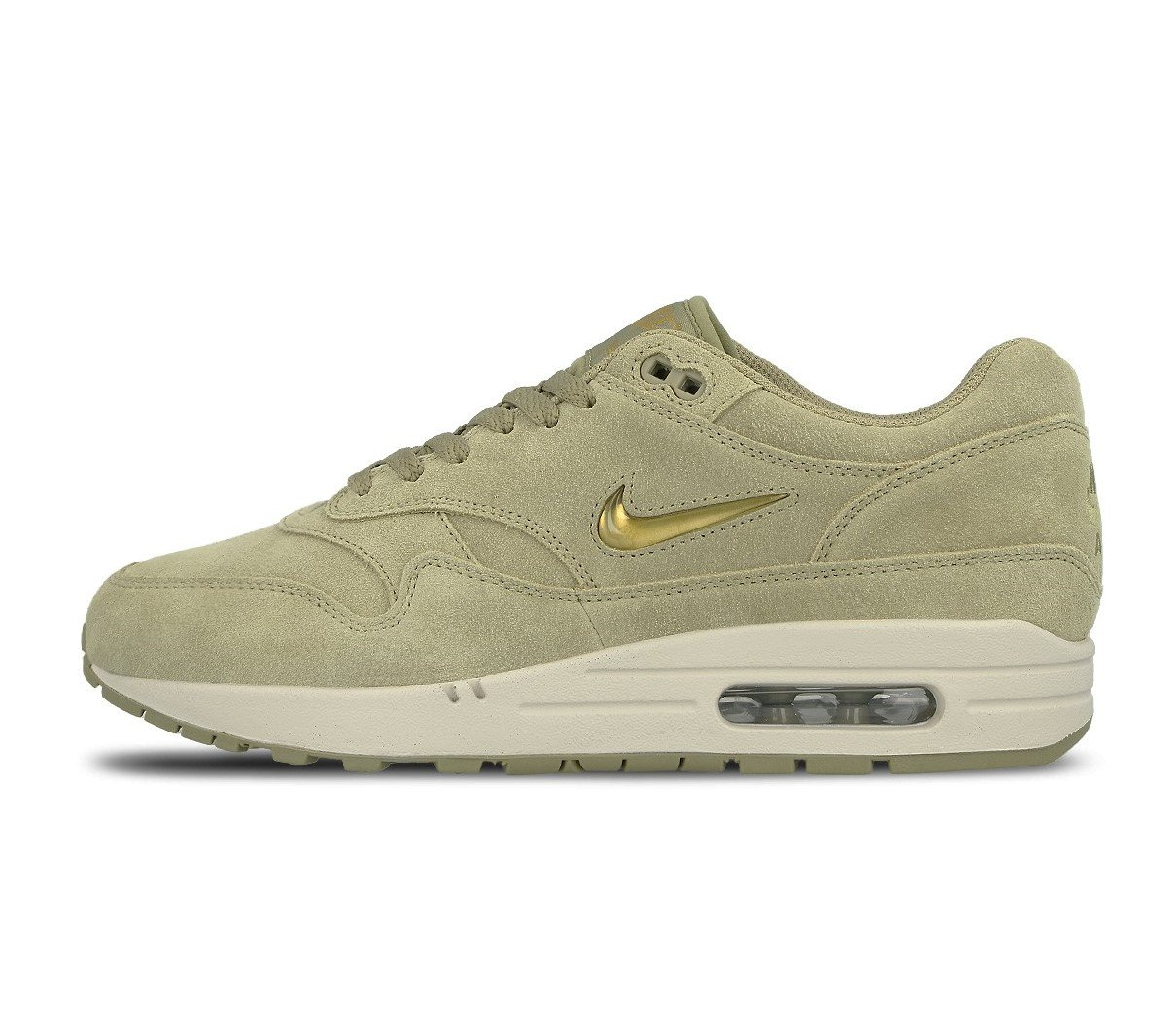 super popular 1c6eb 72b12 Galleon - NIKE Air Max 1 Premium SC Mens Running Shoes Size 9.5 Neutral  Olive Metallic Gold