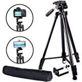 Abeststudio Lightweight Tripod for Camera iPhone Smartphone, Camera Tripod with 1/4 Inch Screw,360-degree panoramic rotation, Quick Release Plate and Bubble Level for DSLR Camer Canon Nikon Olympus DV camcorders Projector