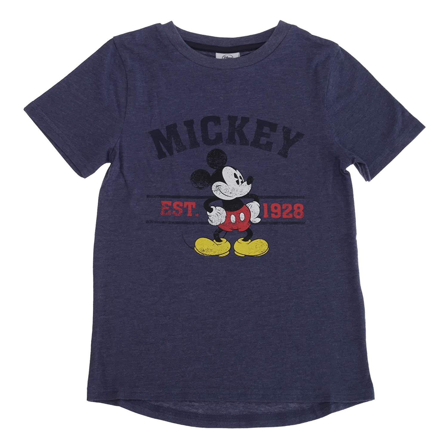 5-6 Years Disney Mickey Mouse Toddler Boys T-Shirt Blue Marl