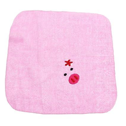 B Blesiya Toalla de Forma Animal Lindo para Bebés Productos de Boda Cumpleaños Fiesta Cocina - Cerdo hembra, 19x19cm: Amazon.es: Bebé