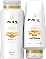 Pantene Moisturizing Shampoo and Silicone-Free Conditioner for Dry Hair, Daily Moisture Renewal, Bundle Pack, 1 Set