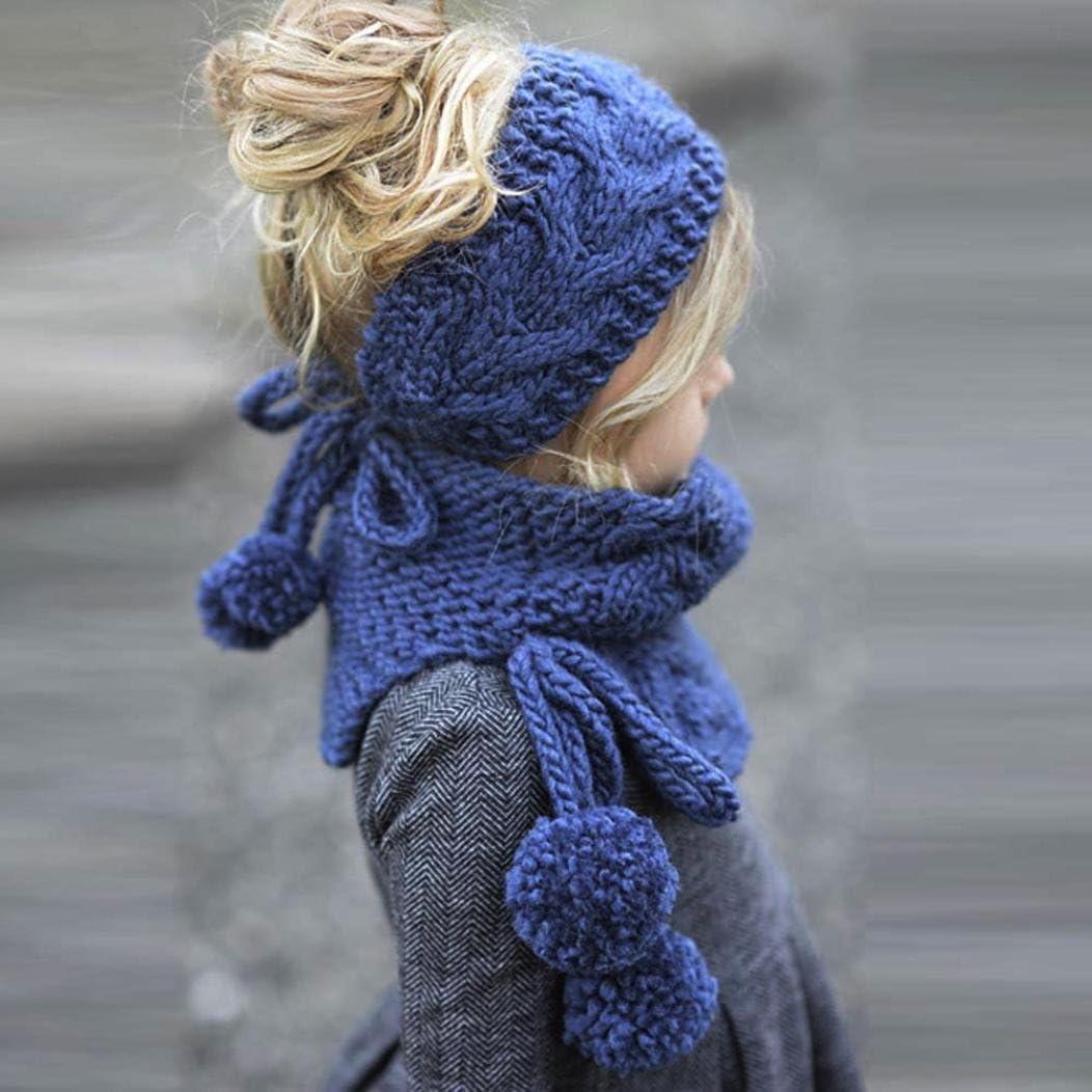 Sombreros de beb/é Chicas Invierno Lana De Punto Linda Zorro Chales Encapuchado Capucha Gorros LMMVP Azul, Tama/ño Libre