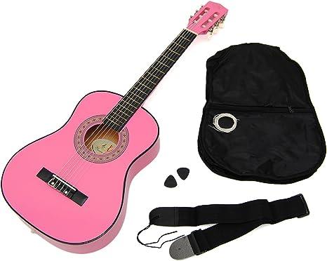 Ts-Ideen 5251 - Guitarra acústica infantil 1/4 (para 4-7 años ...